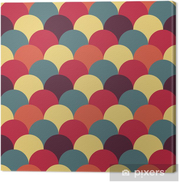 abstract retro geometric pattern Canvas Print - Abstract