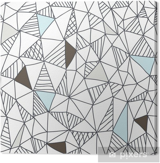 Abstract seamless doodle pattern Canvas Print - Business