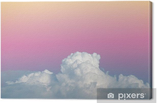 abstract soft sky cloud with gradient pastel vintage color for backdrop background use Canvas Print - Graphic Resources