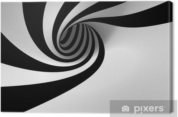 Abstract spiral Canvas Print -