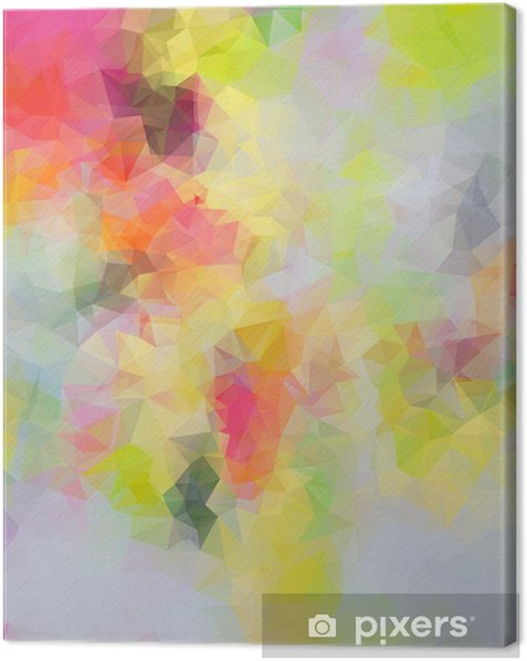 Abstract triangle background Canvas Print -