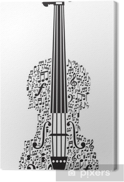 Abstract Violin And Musical Symbols Canvas Print Pixers We Live
