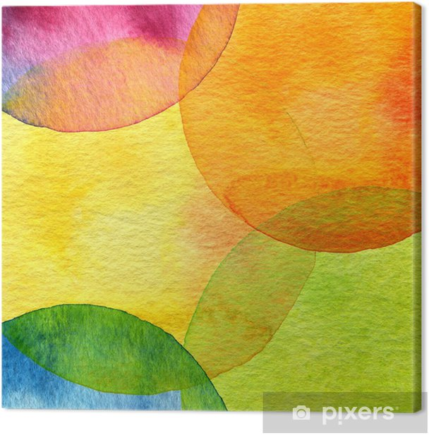 Abstract watercolor circle painted background Canvas Print - Styles
