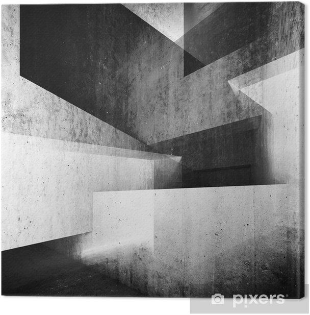 Abstract white concrete interior background 3 d Canvas Print - Buildings and Architecture