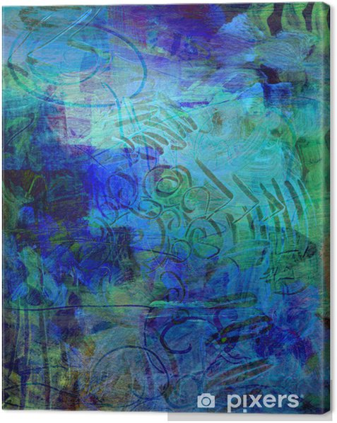 acrylfarben auf holzplatte Canvas Print - Destinations