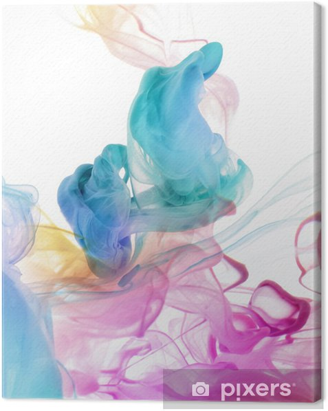 Acrylic colors in water. Abstract background. Canvas Print -