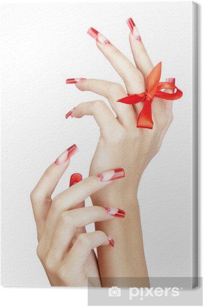 Acrylic nails manicure Canvas Print - Lifestyle>Body Care and Beauty