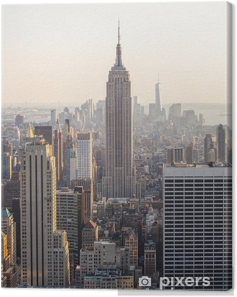 Aerial View of Manhattan, New York Canvas Print - Themes
