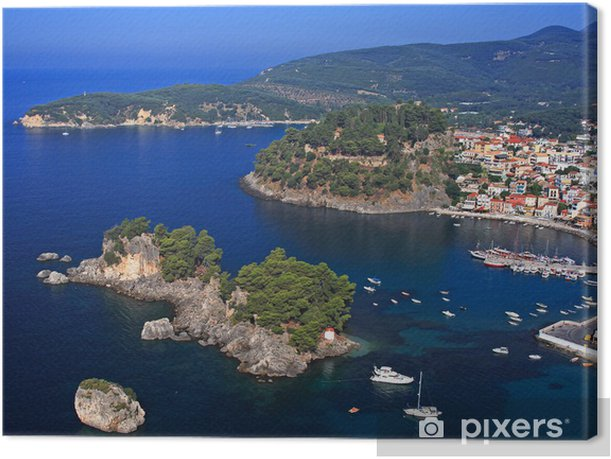 Aerial view on Parga Greece Canvas Print - Europe