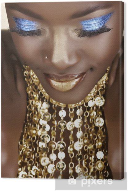 African woman with gold Canvas Print - Themes