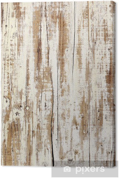 aged white wood Canvas Print - Themes