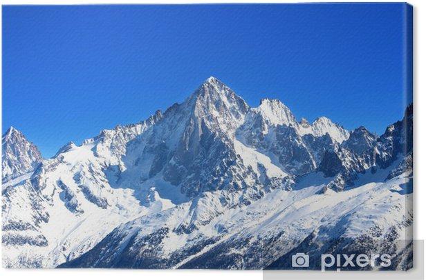 Aiguille Verte - Massif du Mont-Blanc (Haute-Savoie) Canvas Print - Styles