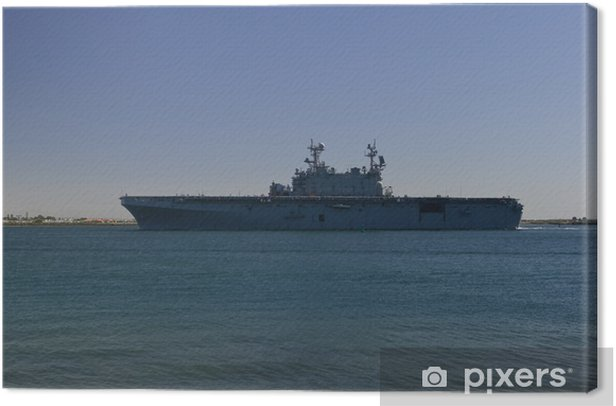 Aircraft Carrier Returning from Sea Canvas Print - Boats