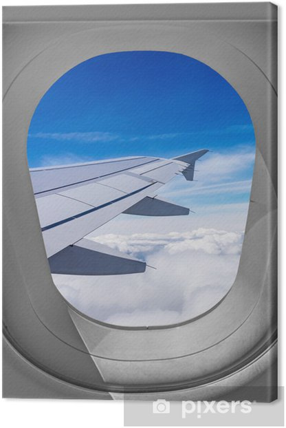 Airplane Window View Canvas Print Pixers We Live To Change