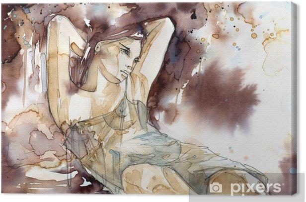 Akt kobiety w pozycji półleżącej Canvas Print - Styles