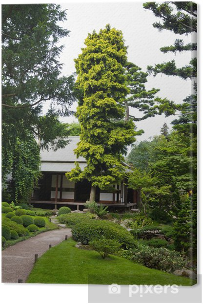 Albert Khan - japanese garden Canvas Print - European Cities
