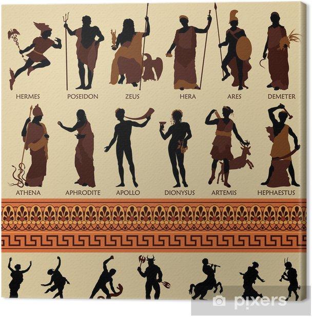 All 12 Greek Gods and Ancient Mythology Canvas Print - Imaginary Animals