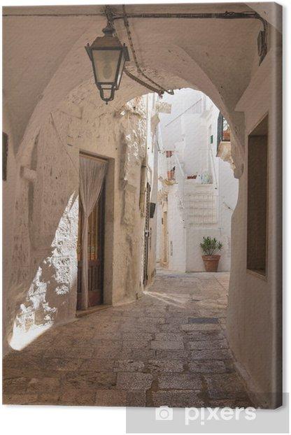 Alleyway. Cisternino. Puglia. Italy. Canvas Print - Themes
