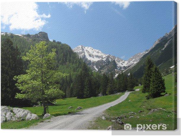 Alpenlandschaft Canvas Print - Europe