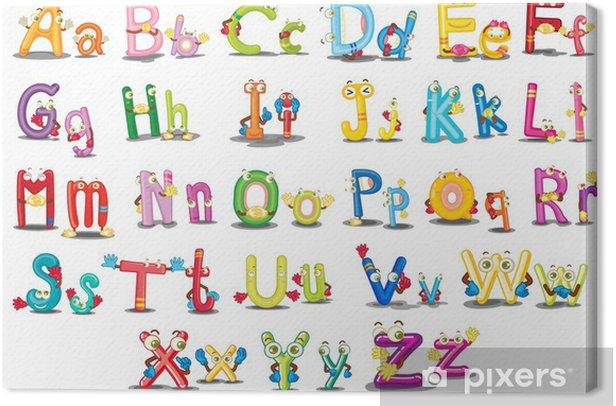 Alphabet characters Canvas Print - Themes
