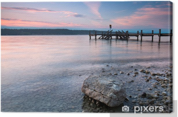 am Ufer des Sees Canvas Print - Water