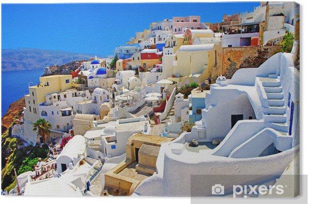 amazing Santorini Canvas Print - Themes