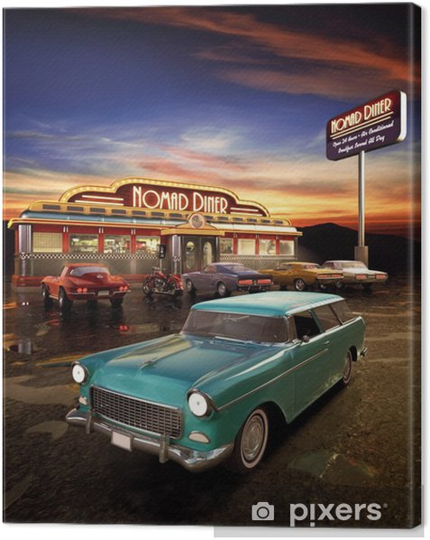 American Diner Canvas Print - Styles