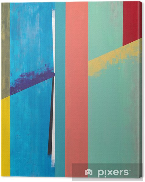 an abstract painting Canvas Print - Abstract
