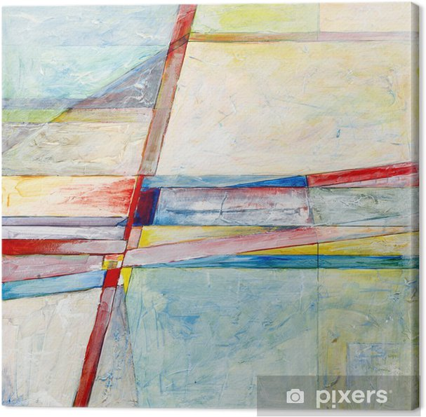 an abstract painting Canvas Print - Hobbies and Leisure