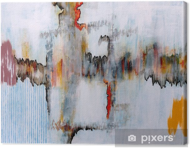 an abstract painting Canvas Print - Technology