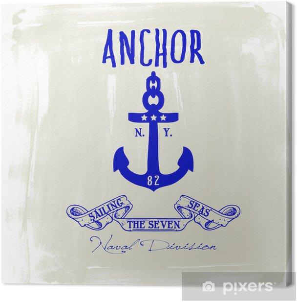 Anchor Canvas Print - Textures