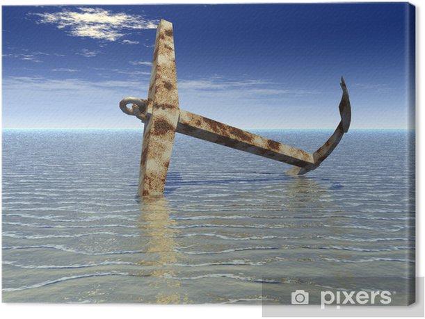 Anchor Canvas Print - Water