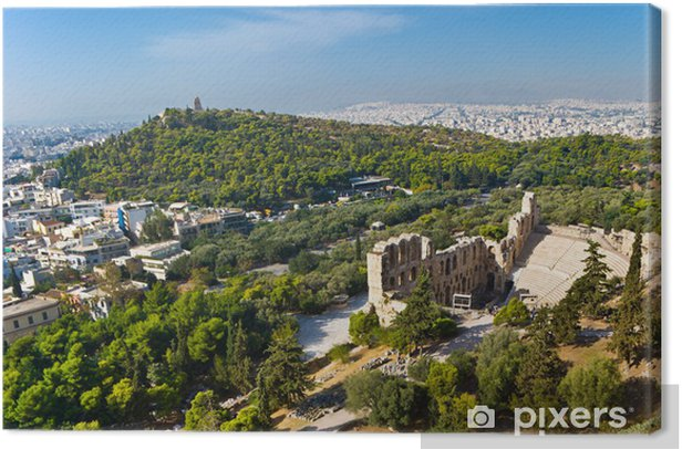 Ancient Athens Canvas Print - Europe
