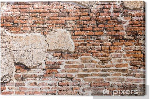 Ancient brick wall fragment Canvas Print - Themes
