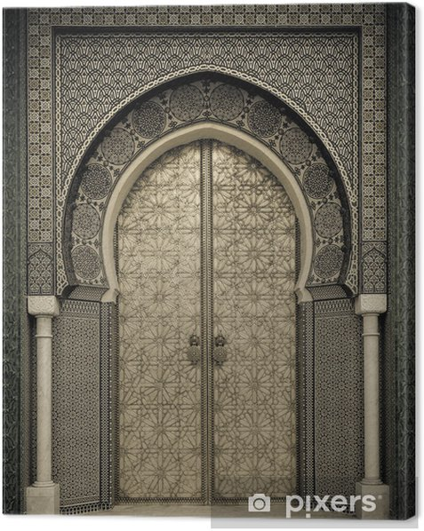 Ancient doors, Morocco Canvas Print - Themes