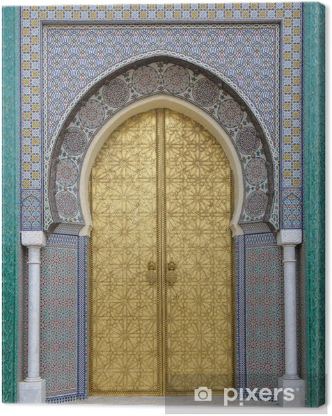 Ancient doors, Morocco Canvas Print - iStaging