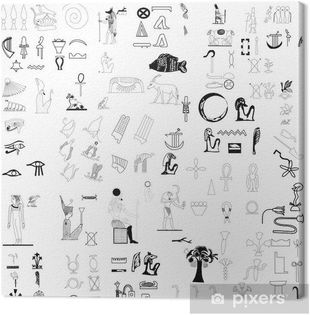 Ancient Egyptian Symbols Vector Canvas Print Pixers We Live To