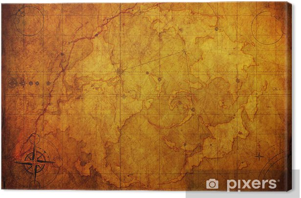 Ancient Map Old Paper Texture Canvas Print Pixers 174 We