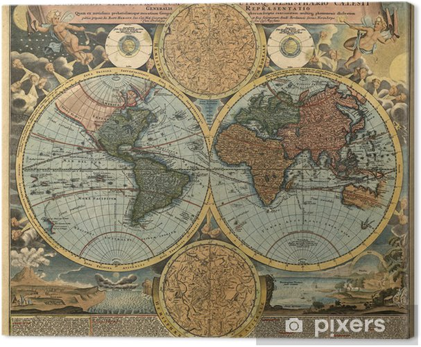 Ancient map Canvas Print - Styles