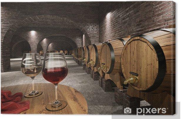 Ancient wine cellar Canvas Print - Wine