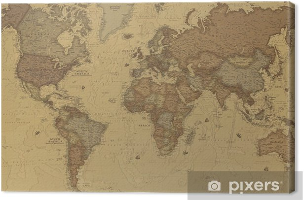 Ancient world map Canvas Print - iStaging