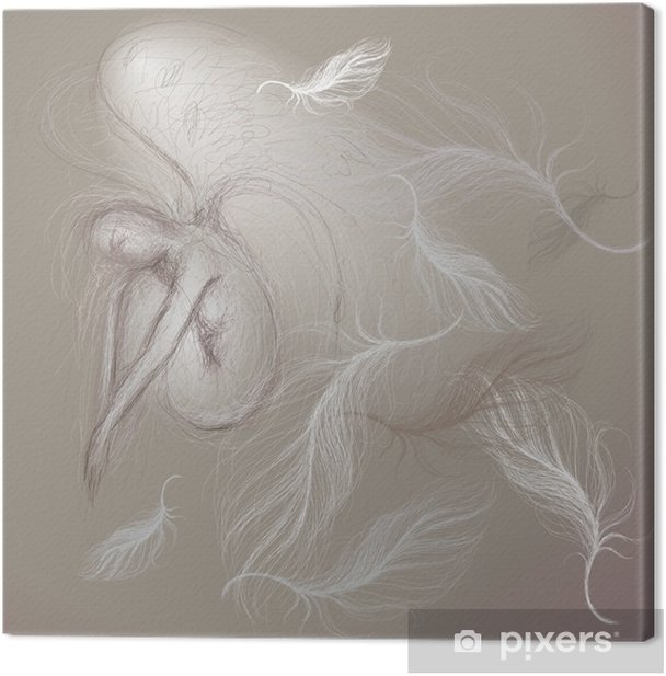 Angel at peace / Fine sketch Canvas Print - Lifestyle>Body Care and Beauty
