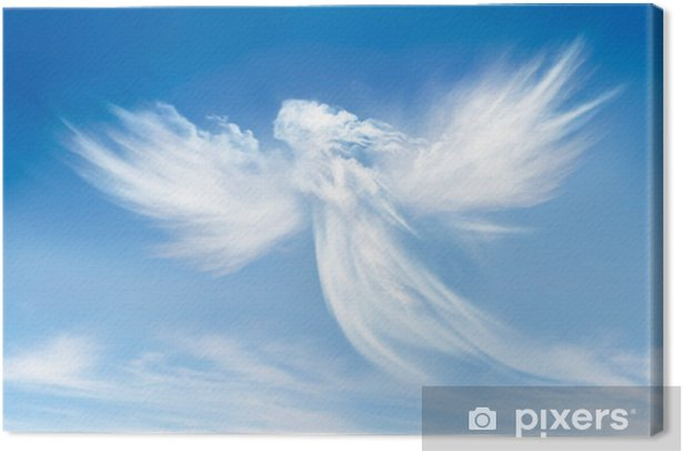 Angel in the clouds Canvas Print - Religion