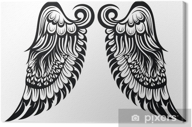 Angel Wings Tattoo Design Canvas Print Pixers We Live To Change