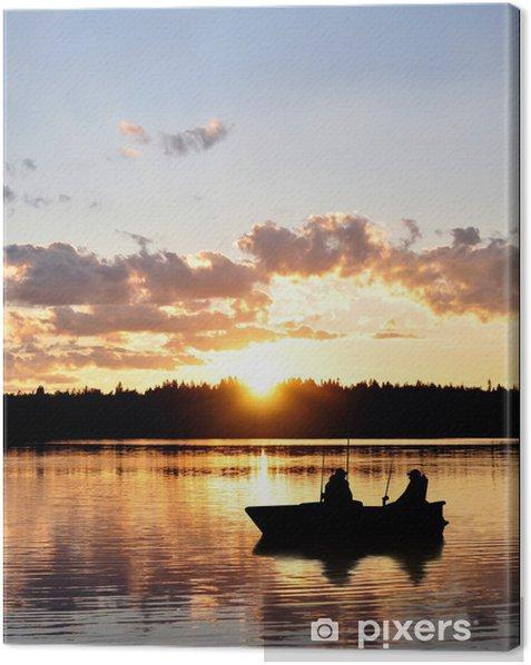Angler im Boot Canvas Print - Themes