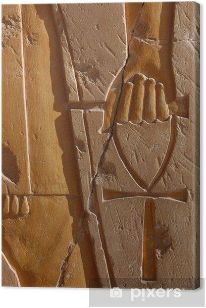 ankh - symbol of life Canvas Print - Africa