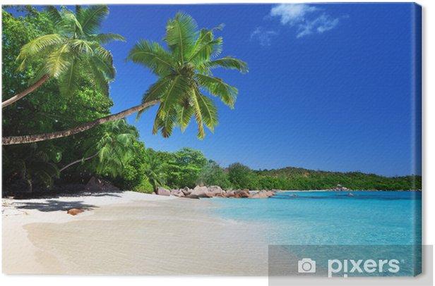 Anse Lazio beach at Praslin island, Seychelles Canvas Print - Water