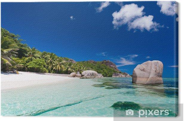 Anse Source d'Argent, la Digue, Seychelles Canvas Print - Holidays