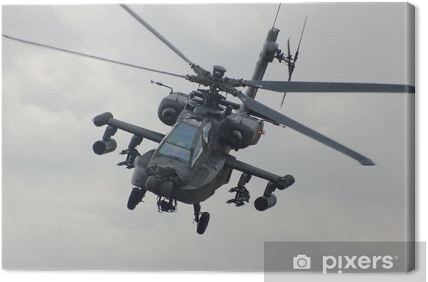 Apache helicopter Canvas Print - Themes