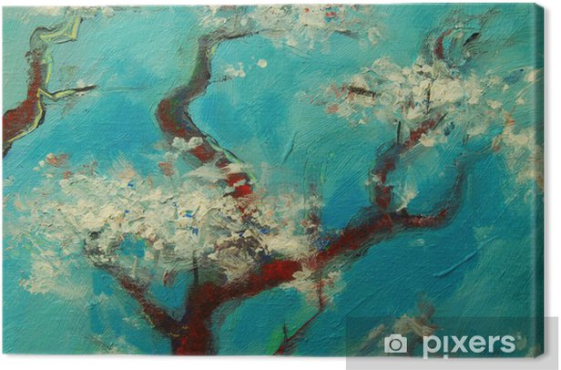 Arbre en fleurs Canvas Print - Countryside